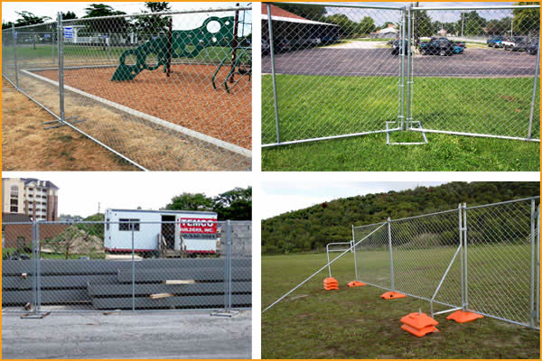 chain link temporary fence application